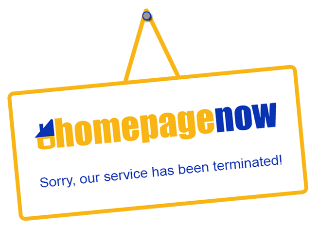 homepageNOW has been terminated